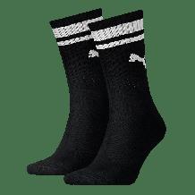 Puma Crew Heritage Stripe sokken zwart 2-pack
