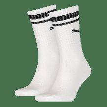 Puma Crew Heritage Stripe sokken wit 2-pack