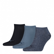 Puma Invisible Sokken 3-Pack Denim Blue