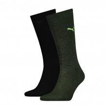 Puma sokken classic Black / Green 2-pack