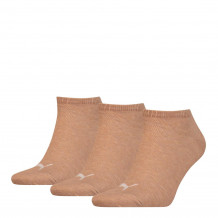 Puma Unisex Sneaker Plain Socks Beige Melange