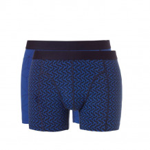 Ten Cate Fine Men Shorts Graphic Blue Deer Blue 2-pack
