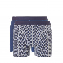 Ten Cate Men Fine Shorts Blue+Grey 2-pack