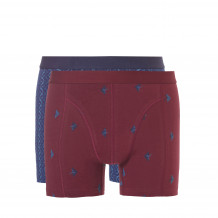 Ten Cate Men Fire Shorts Burgundy+Navy 2-pack