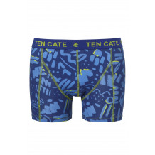 Ten Cate Men Printed Shorts 3224 Scratch Blue | Ten Cate
