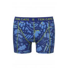 Ten Cate Men Printed Shorts 3224 Scratch Blue | Ten Cate