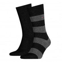 Tommy Hilfiger Men Rugby Sock Black 2-Pack