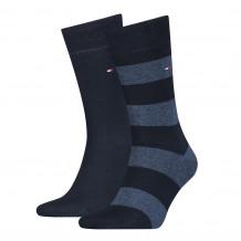 Tommy Hilfiger Men Rugby Sock Dark Navy 2-Pack
