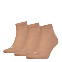 Puma Unisex Quarter Plain Socks Beige Melange