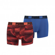 Puma Active Boxershorts Print Orange 2-pack