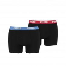 Puma heren boxershorts 2-pack basic Red/Blue