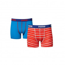 Puma Boys 2-pack Faded Stripe Red/Blue