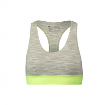 Puma Space Dye Racer Back Bra Dames Light Grey Melange