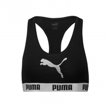 Puma Racer Back Bra Zwart