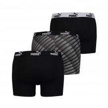 Puma Diagonal Print Boxers Black 3-pack