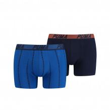 Puma Boxershorts Logo Stripe Blue 2-Pack