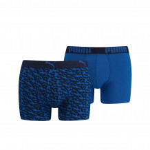 Puma Boxershorts Logo AOP Blue 2-Pack