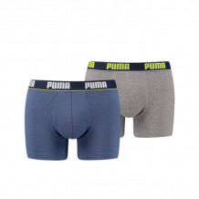 Puma Boxershorts Basic Stripe Elastic Blue/Lime