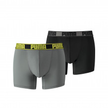 Puma Boxershorts Active Grey Yellow 2-Pack