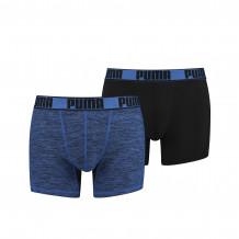 Puma Active Grizzly Melange Boxershorts Blue 2-pack