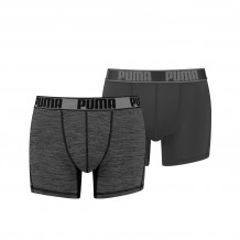 Puma Active Grizzly Melange Boxershorts Black 2-pack