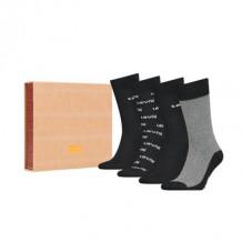 Levi's sokken giftbox Black combo 4-pack