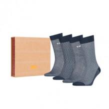 Levi's sokken giftbox Mood indigo 4-pack