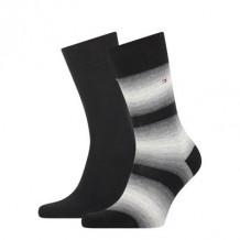 Tommy Hilfiger Sokken Seasonal Baja Stripe Black 2-Pack