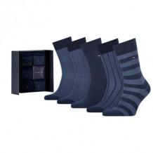 Tommy HilfIger Men Sokken Giftbox Birdeye Navy 5-Pack