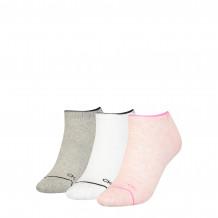 Calvin Klein sokken dames sneaker 3-pack pink melange combo