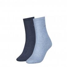 Calvin klein sokken dames  2-pack denim melange