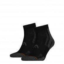 HEAD Performance Quarter sokken 2-pack Unisex Black