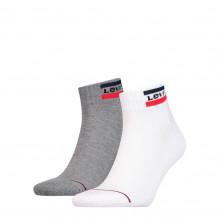 Levis Mid Cut Sprtwr Logo White/Grey 2-Pack