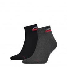 Levis Mid Cut Sprtwr Logo Mid Grey/ Black 2-Pack