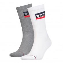 Levis Regular Cut Sprtwr Logo White Grey 2-Pack