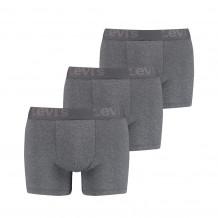 Levi's Men Premium Boxer Brief Grey Melange 3-Pack