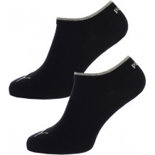 Puma - Dames Sneaker Sokken Zwart / Goud 2-pack