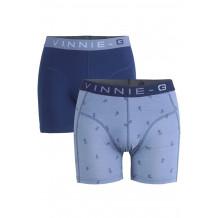 Vinnie-G boxershorts Flame Blue Print Grey 2-pack