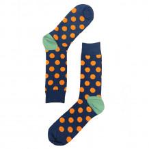 Vrolijke Sokken met stippen - Blue Orange Dot