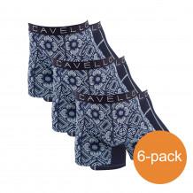 Cavello Boxershorts Donkerblauw Print 6-Pack