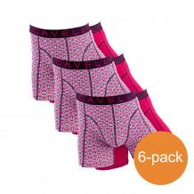 Cavello Boxershorts Rood Print 6-Pack