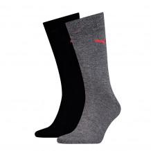 Puma sokken classic Black / White 2-pack (
