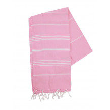The One Towelling Hamamdoek Pink/Wit
