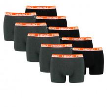HEAD boxershort basic 10-pack grey / red