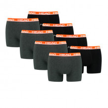 HEAD boxershort basic 8-pack grey / red