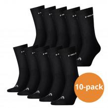 Head Crew sokken 10-pack Zwart