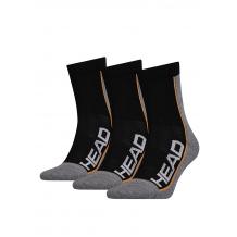 HEAD Stripe Performance Short 3-pack grey/black