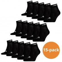 Head Quarter sokken 15-pack Zwart