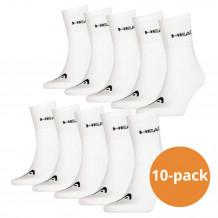 Head Short Crew sokken 10-pack Wit