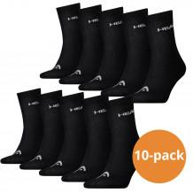 Head Short Crew sokken 10-pack Zwart